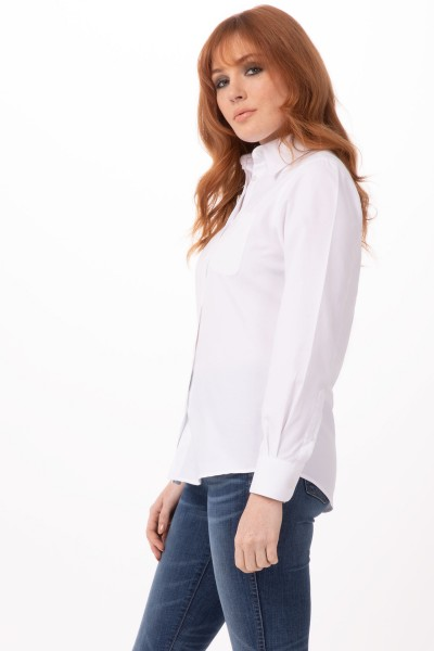 Basic OXFORD Damenshirt W500-WHT